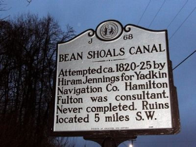 Bean Shoals Canal Marker image. Click for full size.