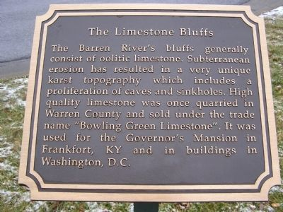 The Limestone Bluffs Marker image. Click for full size.