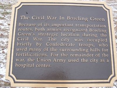 The Civil War in Bowling Green Marker image. Click for full size.