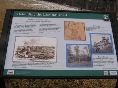 Defending the L&N Railroad Marker image. Click for full size.