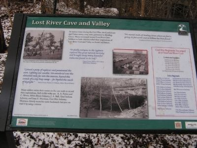 Lost River Cave and Valley marker image. Click for full size.