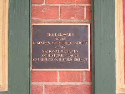 The Delaware House Marker image. Click for full size.