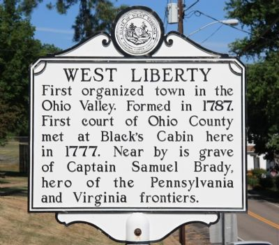 West Liberty Marker image. Click for full size.