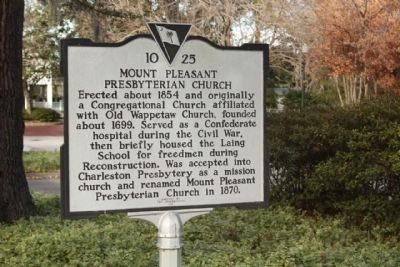 Mount Pleasant Presbyterian Church Marker image. Click for full size.