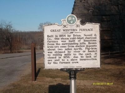 Great Western Furnace Marker image. Click for full size.