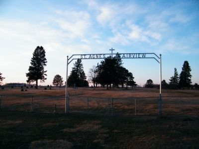 St. Agnes Fairview Cemetery Entrance image. Click for full size.