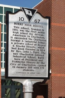 Burke High School Marker image. Click for full size.