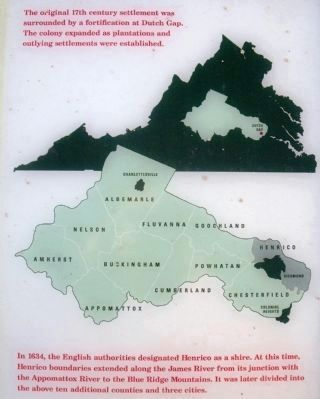 The original Henrico Shire in Virginia. image. Click for full size.