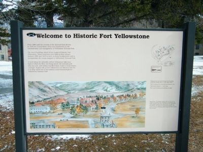 Welcome to Historic Fort Yellowstone Marker image. Click for full size.