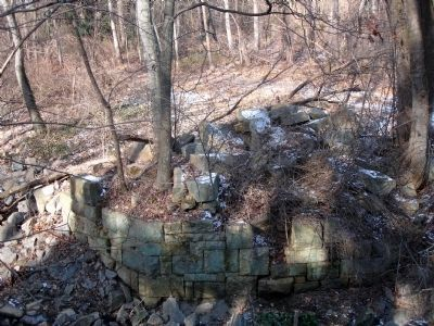 Bridge abutment at Indian Run image. Click for full size.