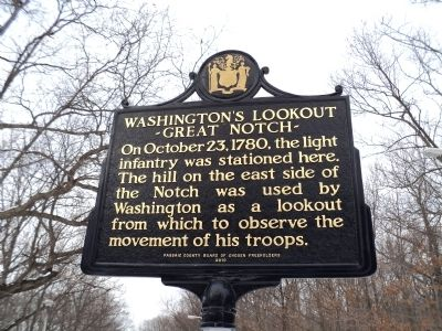 Washington�s Lookout Marker image. Click for full size.