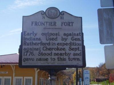 Frontier Fort Marker Photo, Click for full size