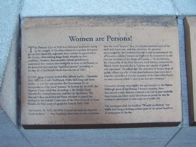 Women Are Persons! Marker image. Click for full size.