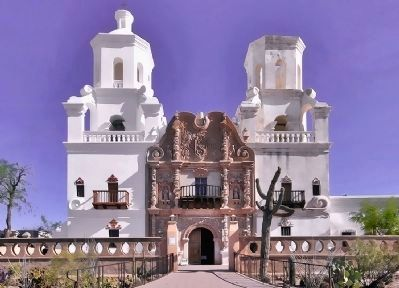 Mission San Xavier image. Click for full size.
