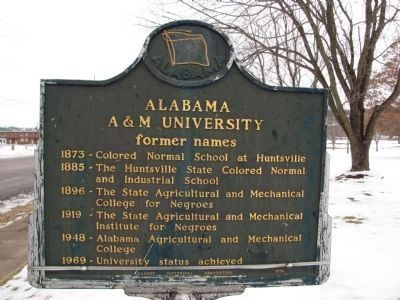 Alabama A&M University Marker (side A) Photo, Click for full size