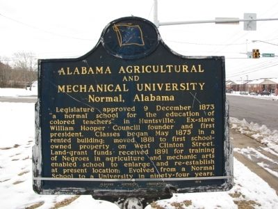 Alabama Agricultural and Mechanical University Marker (Side B) Photo, Click for full size