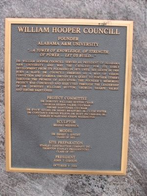 William Hooper Councill Marker Photo, Click for full size