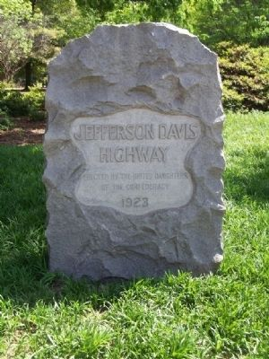 Jefferson Davis Highway Marker Photo, Click for full size