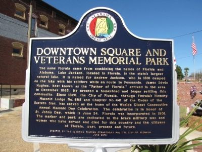 Downtown Square and Veterans Memorial Park Marker image. Click for full size.