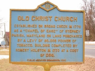 Old Christ Church Marker Photo, Click for full size