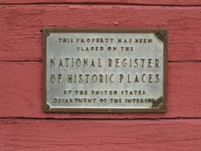 National Register of Historic Places Marker Photo, Click for full size