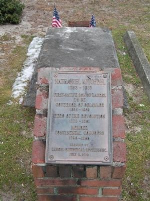 Nathaniel Mitchell Gravesite Marker Photo, Click for full size