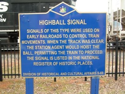 Highball Signal Marker image. Click for full size.