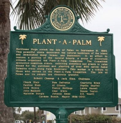 Plant - a - Palm Marker image. Click for full size.