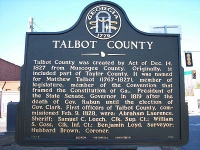 Talbot County Marker image. Click for full size.