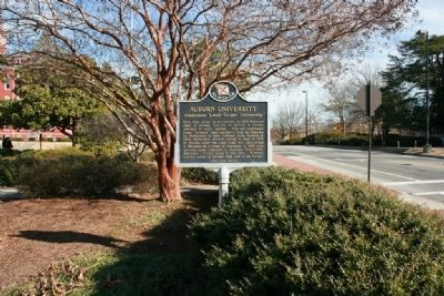 Auburn University Marker along West Thach Avenue image. Click for full size.