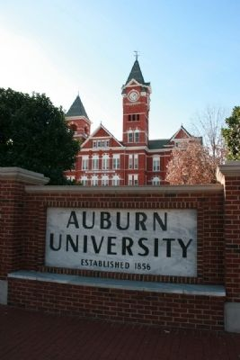Auburn University Sign In Front of Samford Hall image. Click for full size.