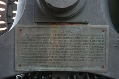 The Lathe Marker Photo, Click for full size