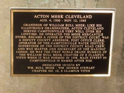 Acton Meek Cleveland Marker image. Click for full size.