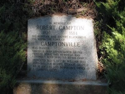 Robert Campton Marker image. Click for full size.