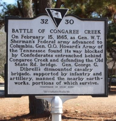 Battle of Congaree Creek Marker image. Click for full size.