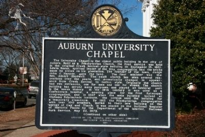 Auburn University Chapel Marker (Side A) Photo, Click for full size