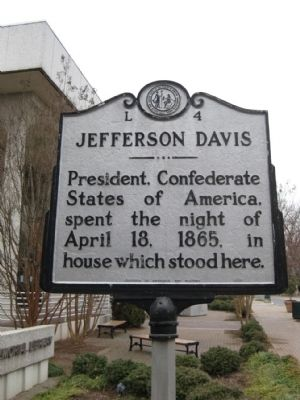 Jefferson Davis Marker image. Click for full size.