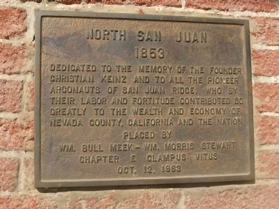 North San Juan - 1853 Marker image. Click for full size.