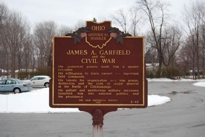 James A. Garfield and the Civil War Marker image. Click for full size.