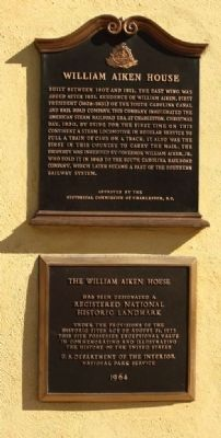 William Aiken House Marker image. Click for full size.