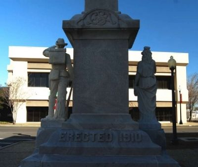 Forrest County Confederate Monument -<br>Southwest Base Photo, Click for full size