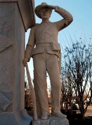 Forrest County Confederate Monument -<br>Confederate Soldier on Base Photo, Click for full size