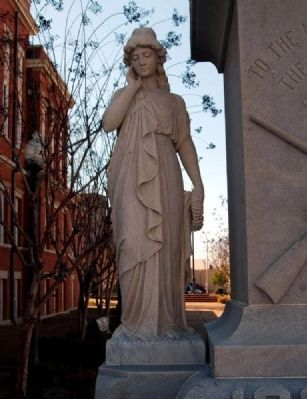 Forrest County Confederate Monument -<br>Confederate Heroine on Base Photo, Click for full size
