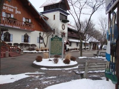 Frankenmuth Bavarian Inn Marker seen from South Main Street image. Click for full size.