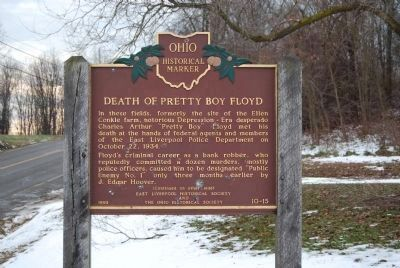 Death of Pretty Boy Floyd Marker (front) image. Click for full size.