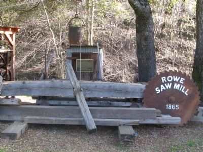 Rowe Saw Mill Marker and Mill Display image. Click for full size.