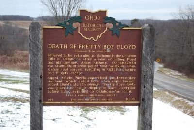 Death of Pretty Boy Floyd Marker (rear) image. Click for full size.