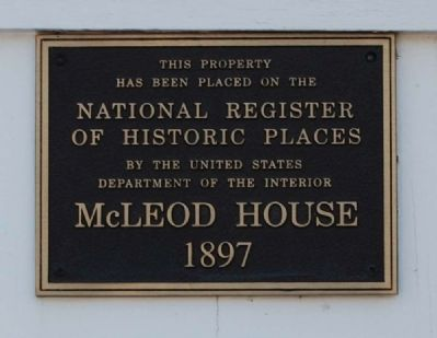 McLeod House Marker image. Click for full size.