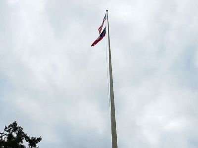 Confederate Flag Pole Marker image. Click for full size.
