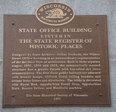 State Office Building Marker image. Click for full size.